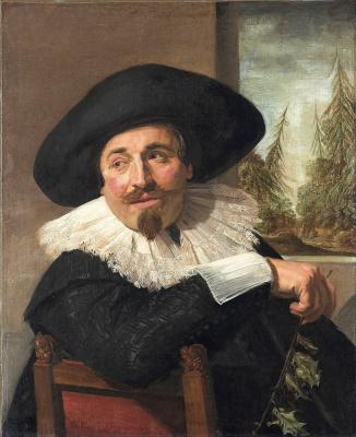 France Hals. Portrait Of Isaac Abrahams