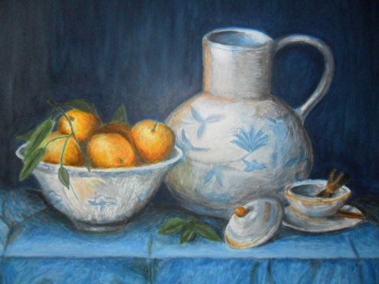 Gulnara Matyukhina. Jug and fruit