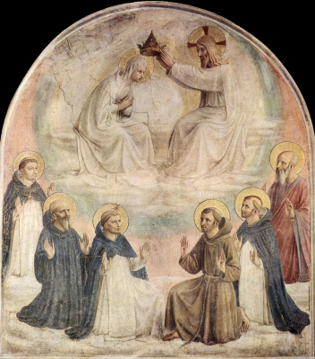Fra Beato Angelico. The Crowning of Mary Fresco of the Monastery of San Marco, Florence