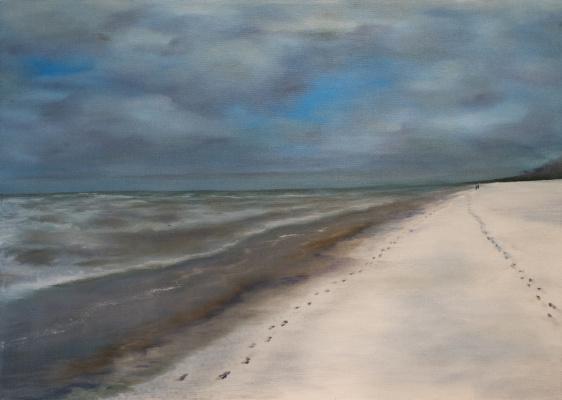 Albert Safiullin. Dzintari. The first snow on the sea.