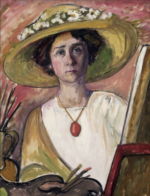 Gabriele Münter. Self-Portrait in front of an easel