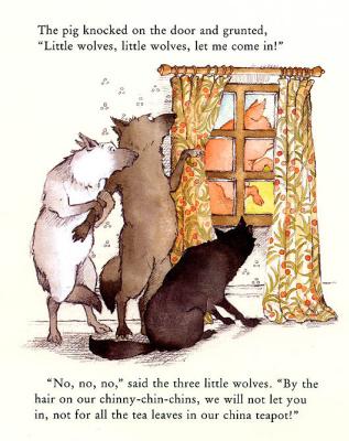 Хелен Охенбуру. Три маленьких волчонка и большой плохой свин 1
