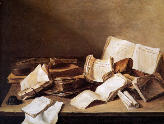 Jan Davids de Hem. Still life with books