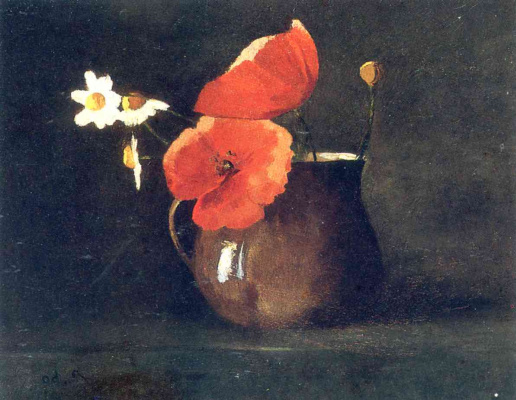 Odilon Redon. Flowers: poppies and daisies