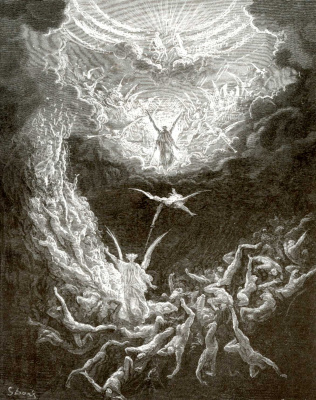 Paul Gustave Dore. Bible Illustration: The Last Judgment