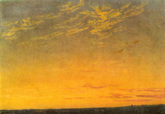 Caspar David Friedrich. The evening