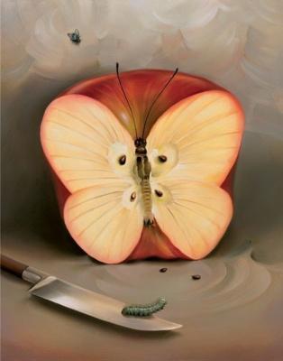 Vladimir Kush. Butterfly-Apple