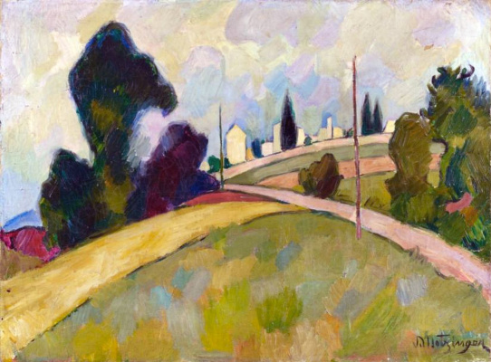 Jean Metzinger. The road through the fields