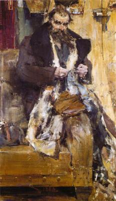 Nikolay Feshin. Portrait of a father