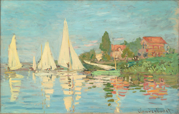 Claude Monet. Regatta at Argenteuil