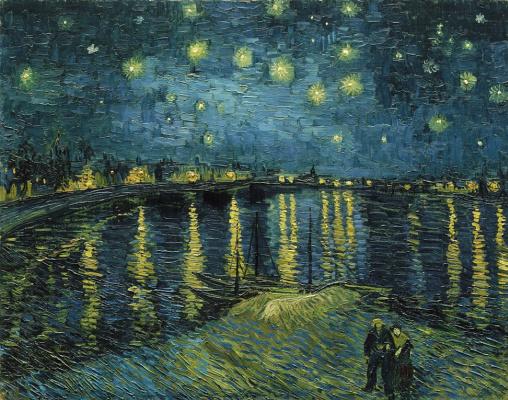 Vincent van Gogh. The Starry Night Over the Rhône