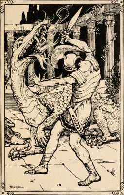 William Morris. Stories about the earthly Paradise. Fight with the Dragon