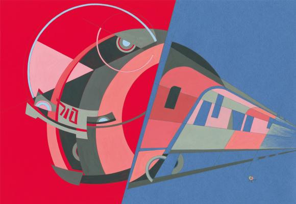 Alex Goncharenko. Lastochka, high speed electric train ES, Era of Locomotives Series