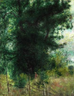 Пьер Огюст Ренуар. Изгородь в лесу