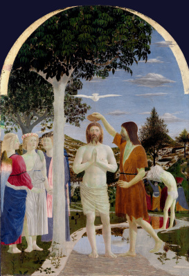 Piero della Francesca. The Baptism Of Jesus Christ