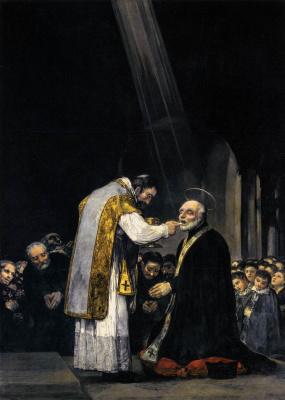 Francisco Goya. The last communion of St. Joseph of Calazans