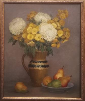 Natalya Liang. Still life with chrysanthemums