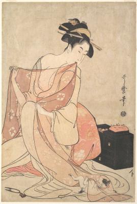 Kitagawa Utamaro. Cat woman