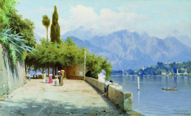 Fedor Andreevich Bronnikov. Views of lake Como. 1897