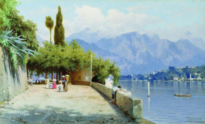 Федор Андреевич Бронников. Вид на озеро Комо. 1897