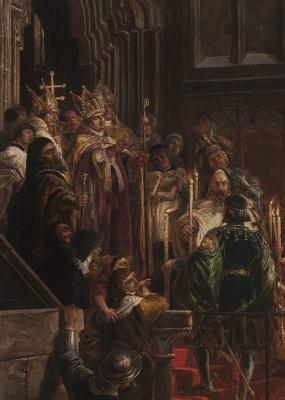 Jan Matejko. The baptism of Vladislav III of Varna in Poland on February 18, 1425. Fragment II