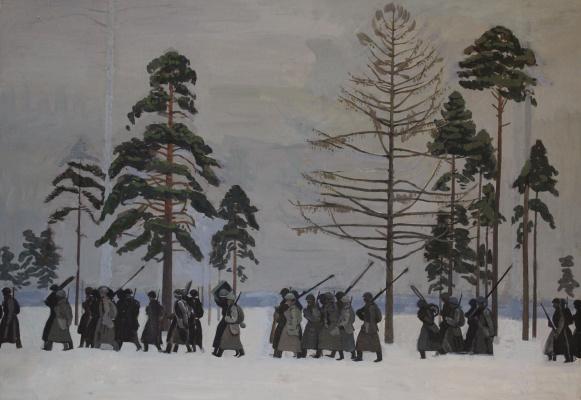 Евгений Александрович Казанцев. The soldiers 1941
