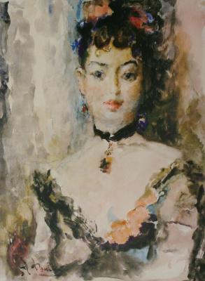 Артур Владимирович Фонвизин. Портрет балерины Люции Юмашевой. 1949