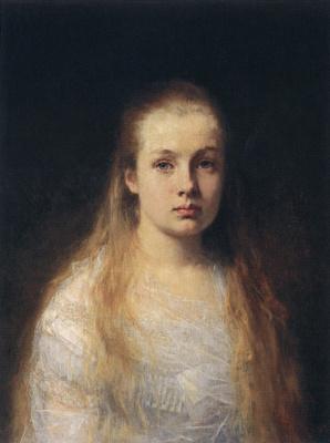 Alexey Alekseevich Kharlamov. Portrait of a girl. 1875
