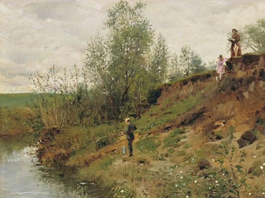 Vladimir Egorovich Makovsky. Fishing