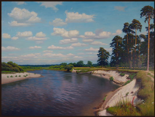 Sushienok64@mail.ru Михайлович Сушенок Игорь. Mast forest on the river bank.