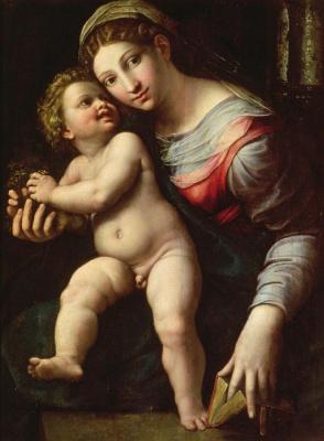 Джулио Романо. Дева с младенцем