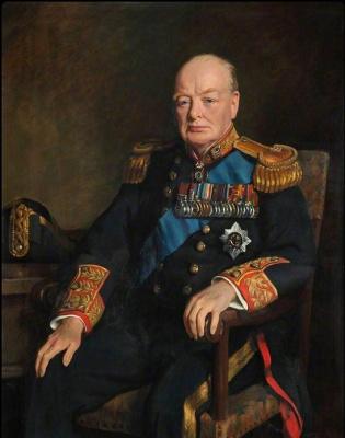 Уинстон Черчилль. Парадный портрет.