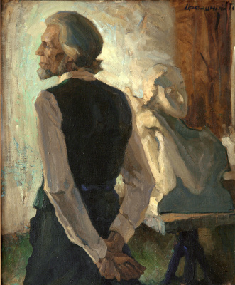Pavel Gennadievich Dragunov. Portrait of the sculptor Zhuravlev N.S.