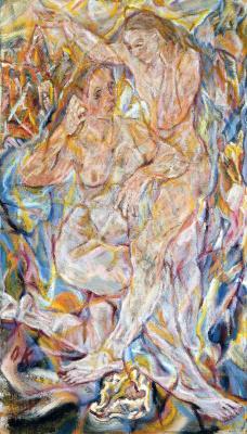 Oskar Kokoschka. Double nude - two women