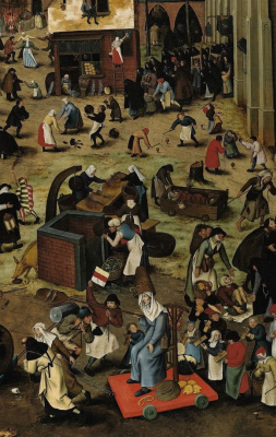 Peter Brueghel The Younger. Battle of Lent and carnival. Fragment I