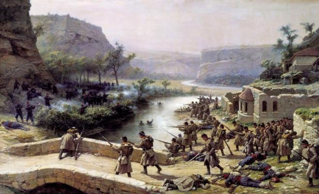 Pavel Osipovich Kovalevsky. Battle of the Ivanovo-Chiflik 2 Oct 1877