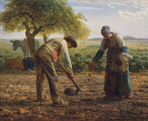 Jean-François Millet. Peasants planting potatoes