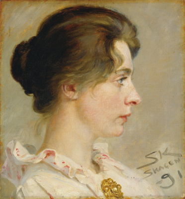 Peder Severin Kreyer. Marie in profile