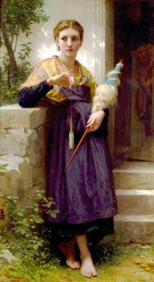 William-Adolphe Bouguereau. Spinner