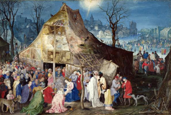 Jan Bruegel The Elder. The adoration of the kings