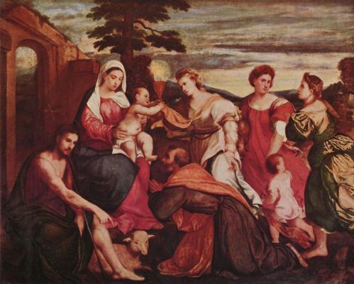 Бонифацио деи Питати. Мария и три теологические добродетели