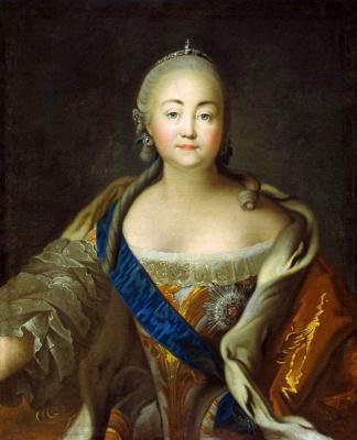 Ivan Petrovich Argunov. Portrait of Empress Elizabeth Petrovna