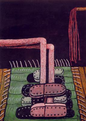 Филипп Гастон. Зеленый ковер
