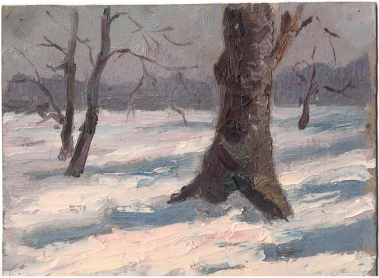 Arkady Pavlovich Laptev. Trees in the snow