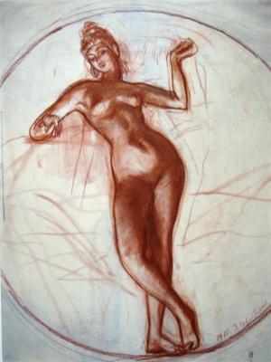 Zinaida Serebryakova. Siam. Sketch of murals for the Kazan railway station in Moscow