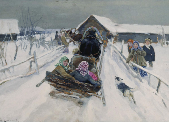 Alexey Stepanovich Stepanov. Skating carnival