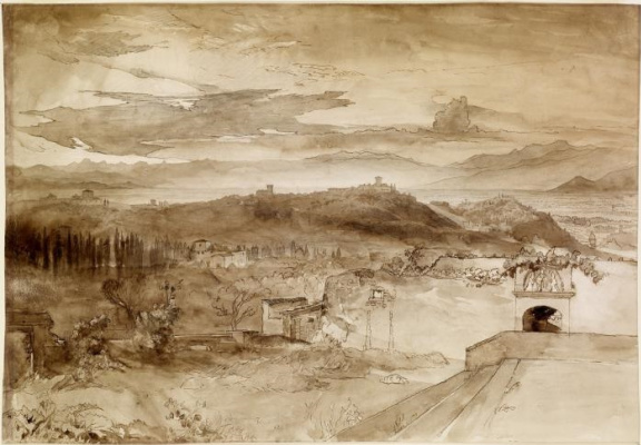 John Ruskin. View of Florence from San Miniato