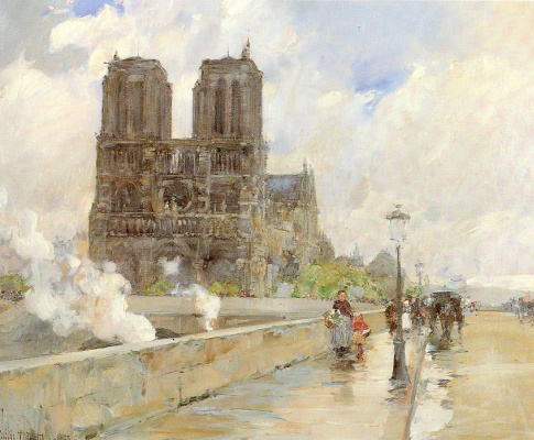 Childe Hassam. The Notre Dame Cathedral, Paris