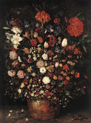 Jan Bruegel The Elder. A large bouquet