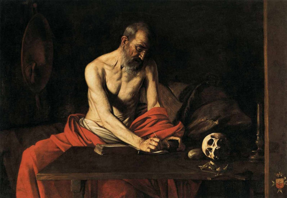 Michelangelo Merisi de Caravaggio. Saint Jerome Writing